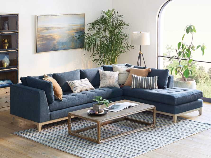 """Bryden Upholstered 129"""" Two Piece Sectional, slide 2 of 8"""