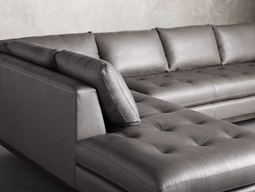 "Bryden Leather 129"" Right Arm Daybed Sectional, slide 9 of 12"