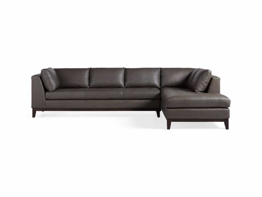 "Bryden Leather 129"" Right Arm Daybed Sectional, slide 11 of 12"