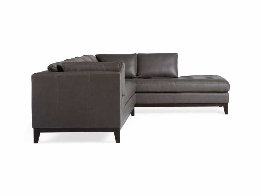 "Bryden Leather 129"" Right Arm Daybed Sectional, slide 12 of 12"