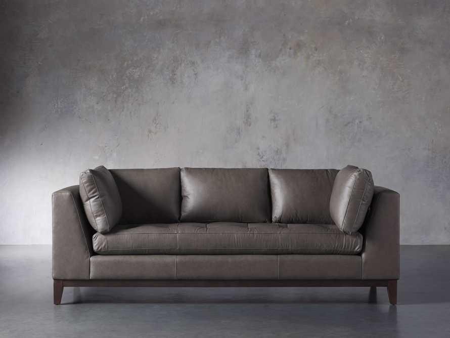 """Bryden Leather 90"""" Sofa, slide 1 of 7"""