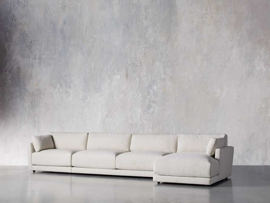 "Sarno Upholstered 168"" Right Arm Chaise Sectional"
