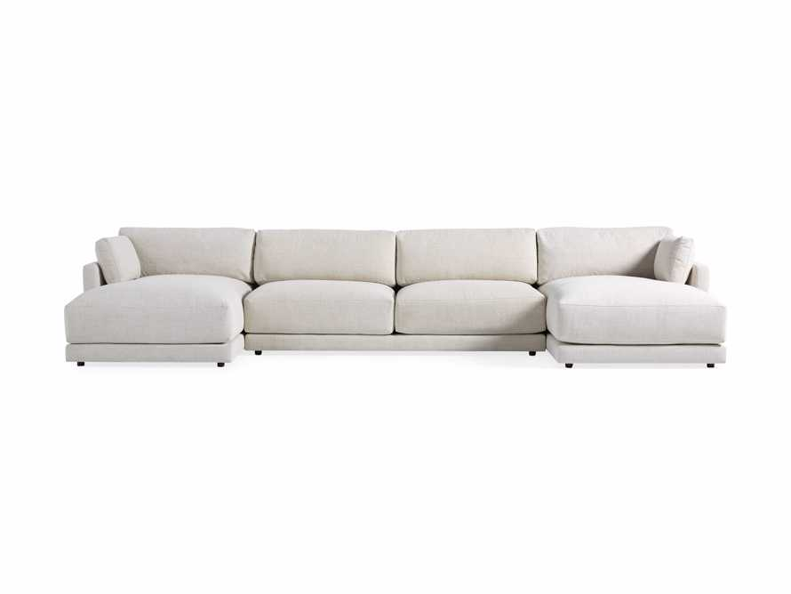 "Sarno Upholstered 168"" Double Chaise Sectional, slide 7 of 8"