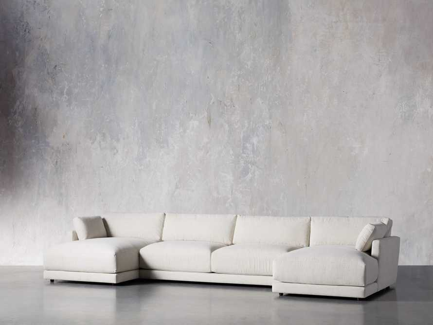 "Sarno Upholstered 168"" Double Chaise Sectional, slide 2 of 8"