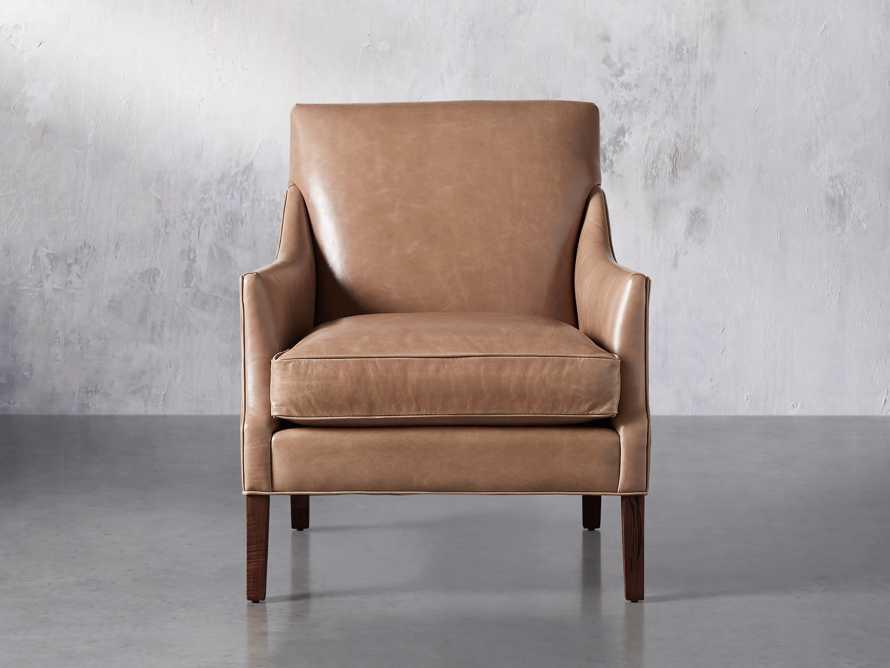 "Dori Leather 31"" Chair, slide 2 of 10"