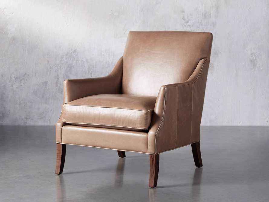 "Dori Leather 31"" Chair, slide 3 of 10"