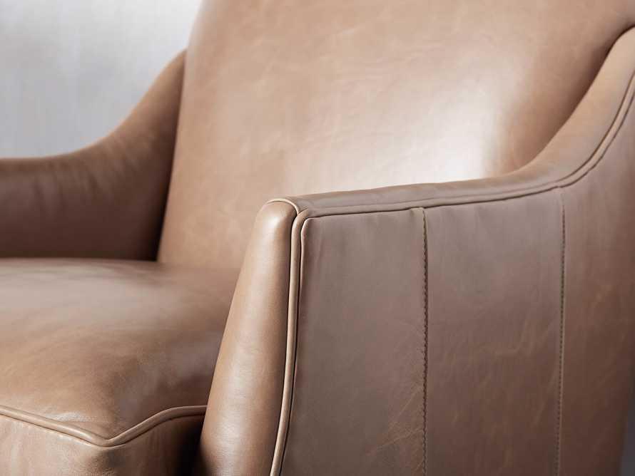 "Dori Leather 31"" Chair, slide 6 of 10"