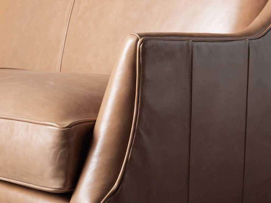 "Dori Leather 61"" Settee, slide 6 of 10"