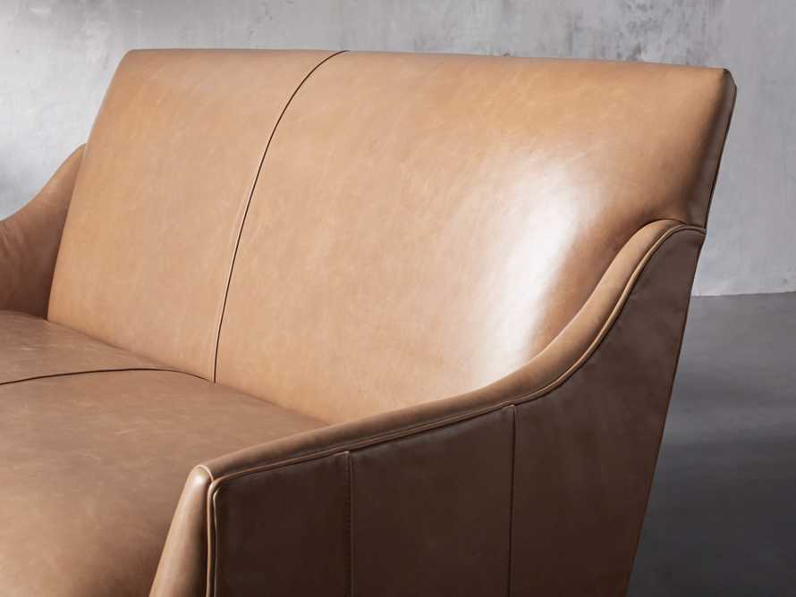 "Dori Leather 61"" Settee, slide 8 of 10"