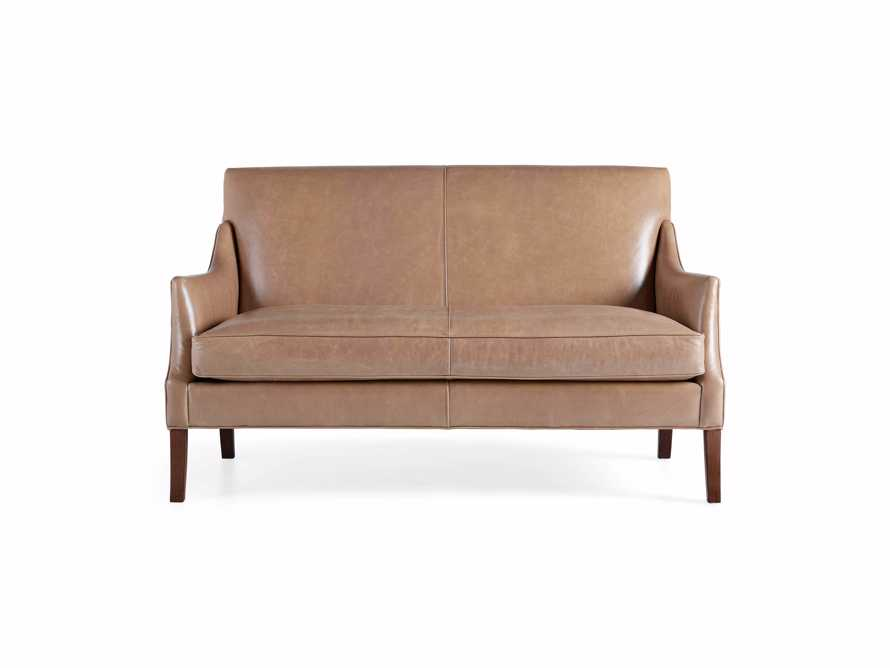 "Dori Leather 61"" Settee, slide 9 of 10"