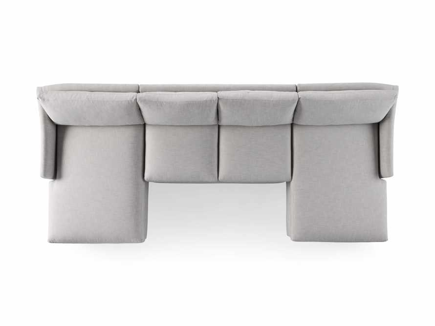 """Branson Outdoor Upholstered 138"""" Double Chaise Sectional, slide 5 of 5"""
