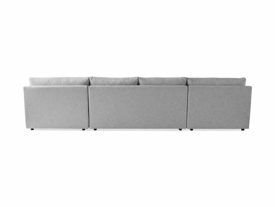 """Branson Outdoor Upholstered 138"""" Double Chaise Sectional, slide 4 of 5"""