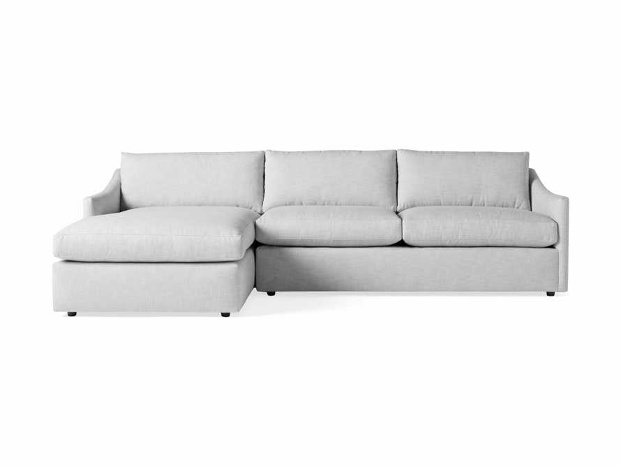"""Branson Outdoor Upholstered 111"""" Two Piece Chaise Sectional, slide 2 of 5"""