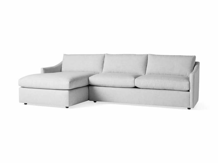 """Branson Outdoor Upholstered 111"""" Two Piece Chaise Sectional, slide 3 of 5"""
