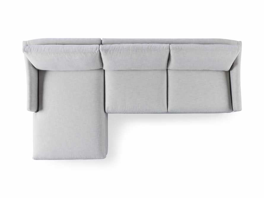 """Branson Outdoor Upholstered 111"""" Two Piece Chaise Sectional, slide 5 of 5"""