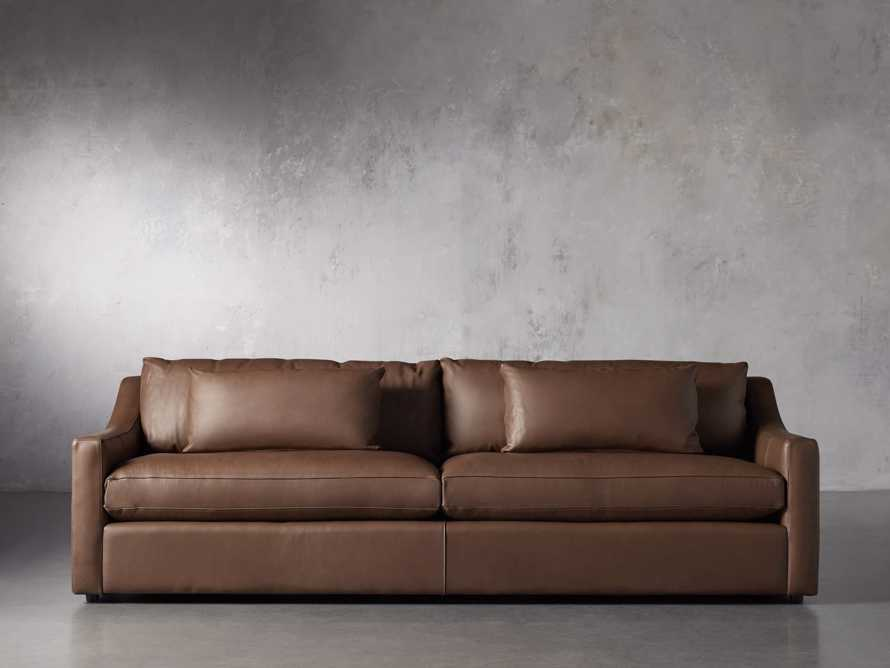 "Ashby Leather 106"" 2/2 Sofa, slide 1 of 7"