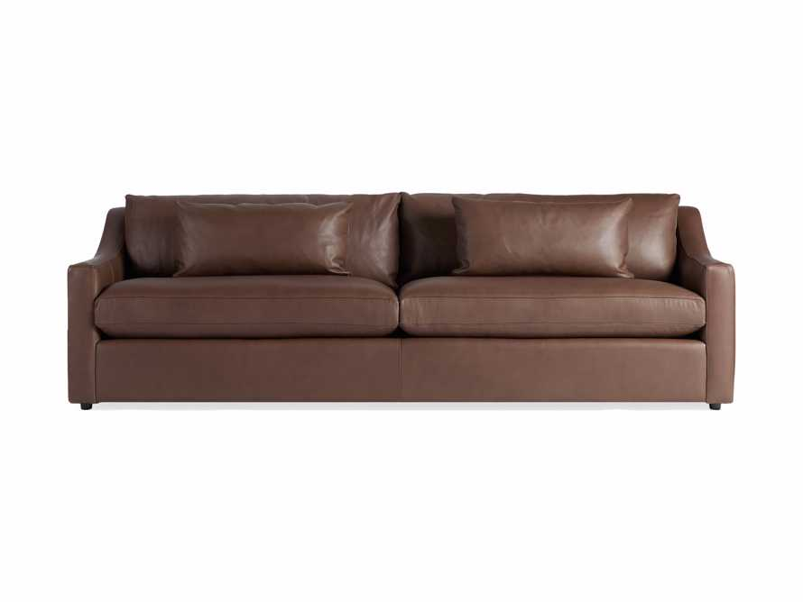 "Ashby Leather 106"" 2/2 Sofa, slide 6 of 7"