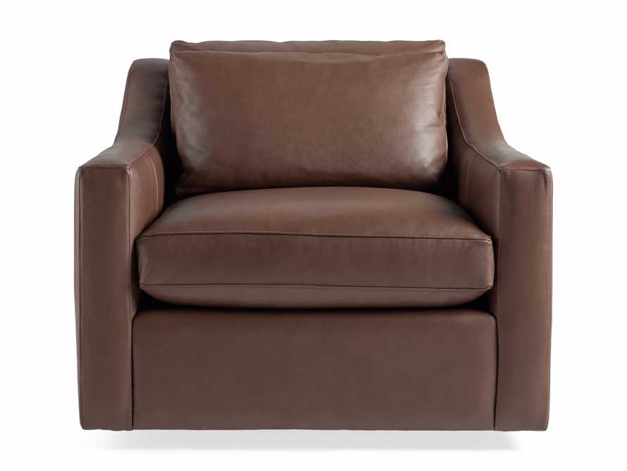 """Ashby Leather 39"""" Swivel Chair, slide 6 of 7"""