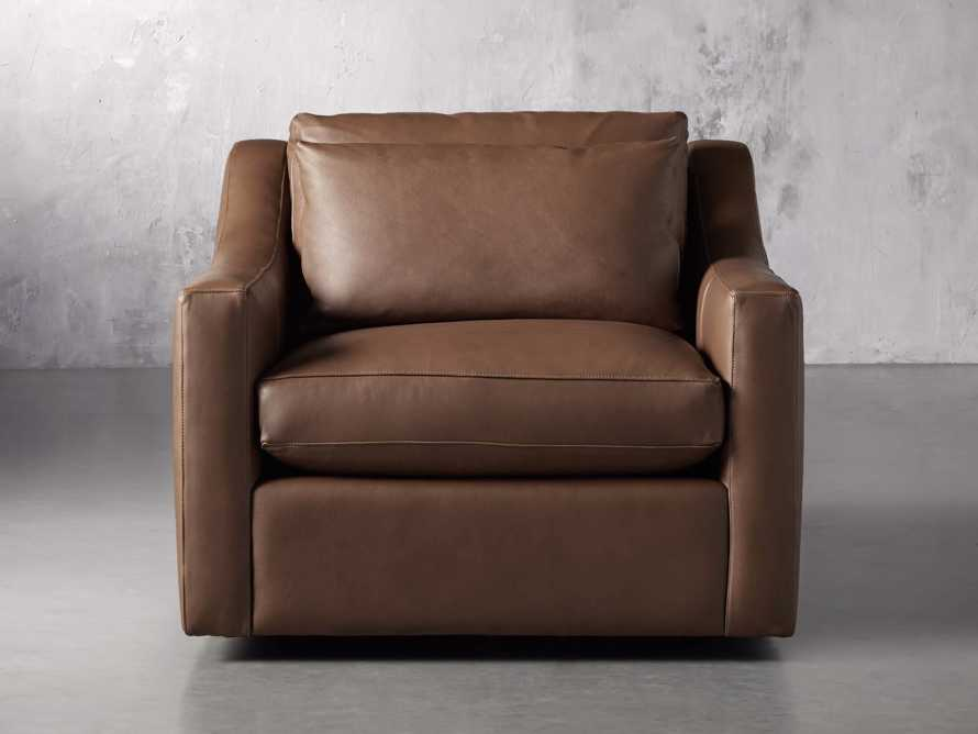 "Ashby Leather 39"" Swivel Chair, slide 1 of 7"