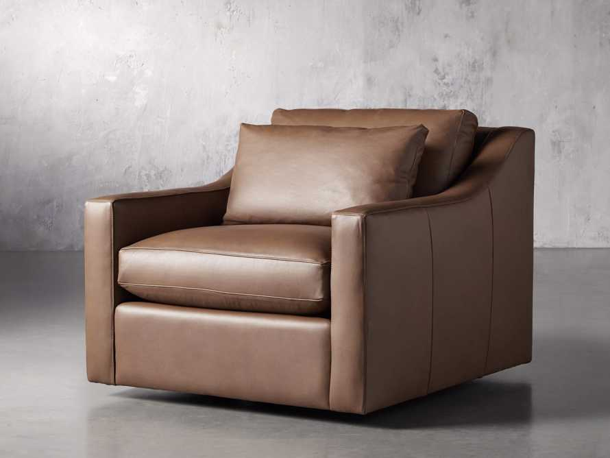 "Ashby Leather 39"" Swivel Chair, slide 2 of 7"