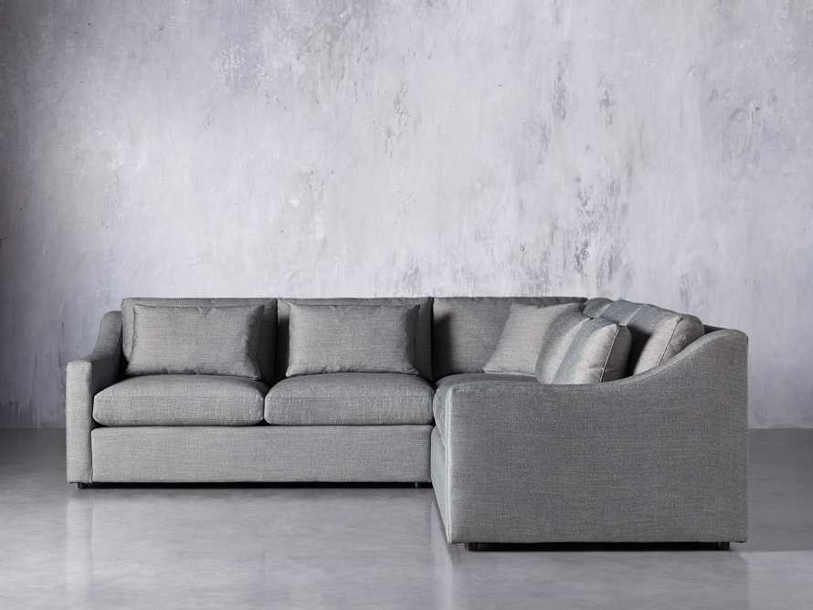Ashby Upholstered 3 Pc Corner Petite Sectional in Tolliver Stone, slide 1 of 7