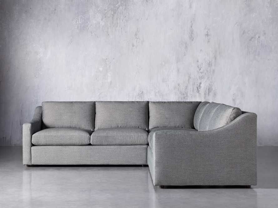 Ashby Upholstered 3 Pc Corner Petite Sectional in Tolliver Stone, slide 2 of 7