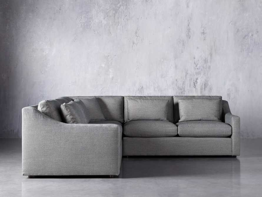 Ashby Upholstered 3 Pc Corner Petite Sectional in Tolliver Stone, slide 4 of 7