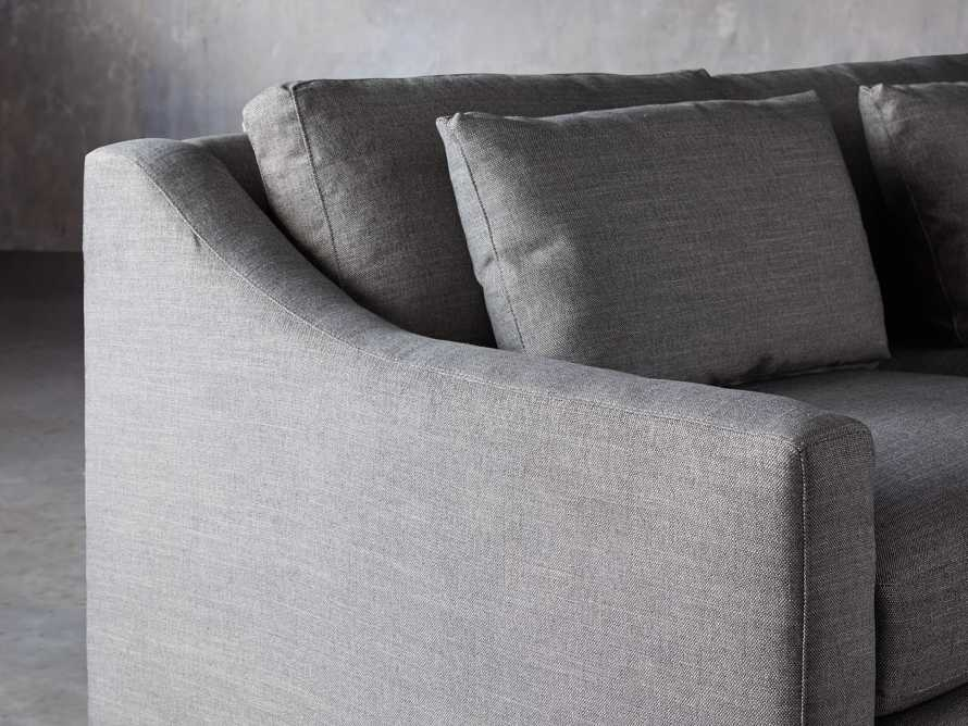 Ashby Upholstered Four Pc R Arm Chaise Petite Sectional in Tolliver Stone, slide 6 of 11