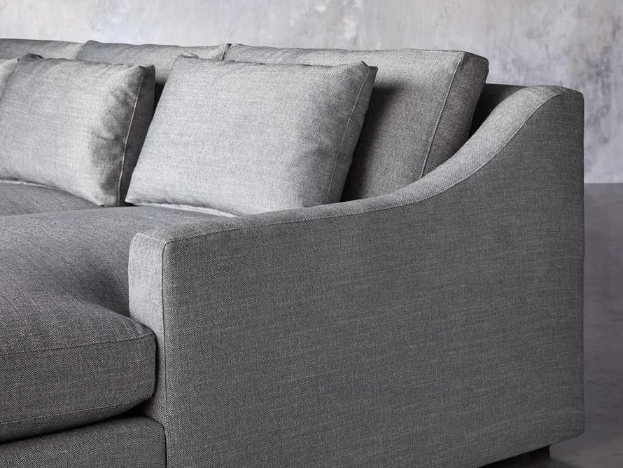 Ashby Upholstered Four Pc R Arm Chaise Petite Sectional in Tolliver Stone, slide 8 of 11