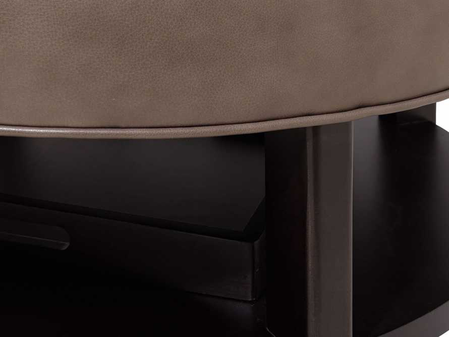 """Butler Leather 32"""" Non Tufted Round Ottoman, slide 5 of 5"""