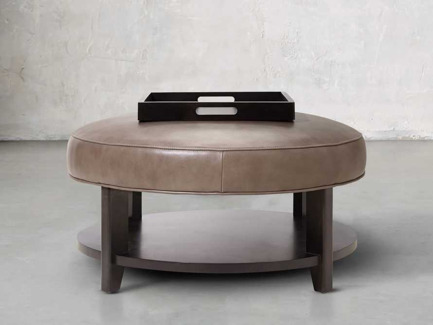 """Butler Leather 32"""" Non Tufted Round Ottoman, slide 4 of 5"""