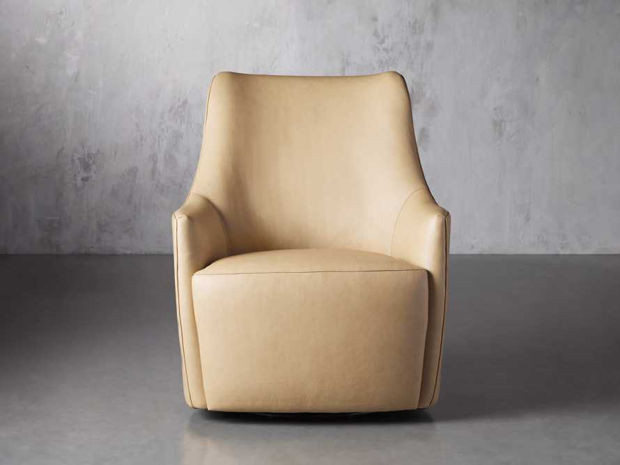 "Cole Leather 31"" Swivel Chair, slide 2 of 9"