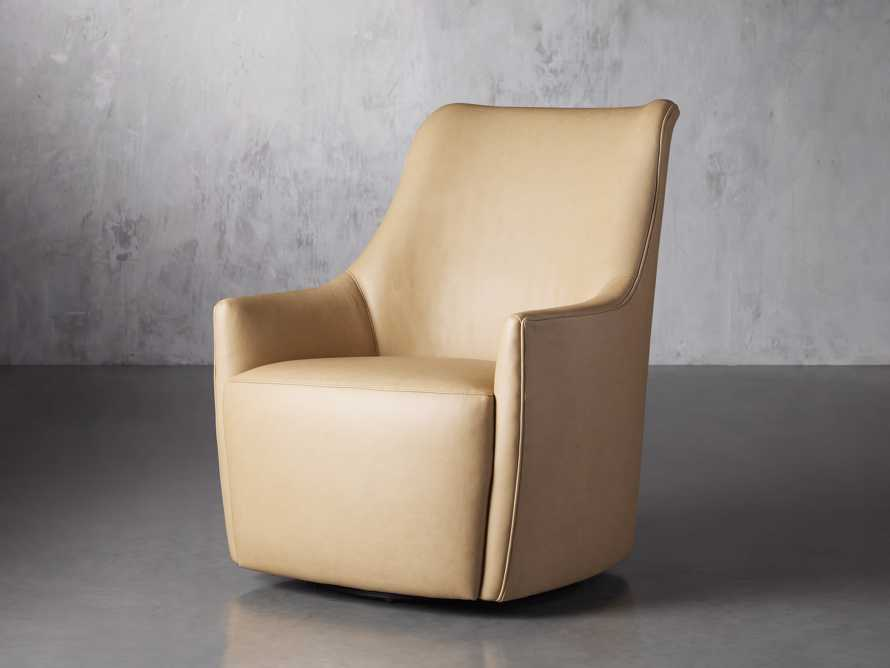 "Cole Leather 31"" Swivel Chair, slide 3 of 9"