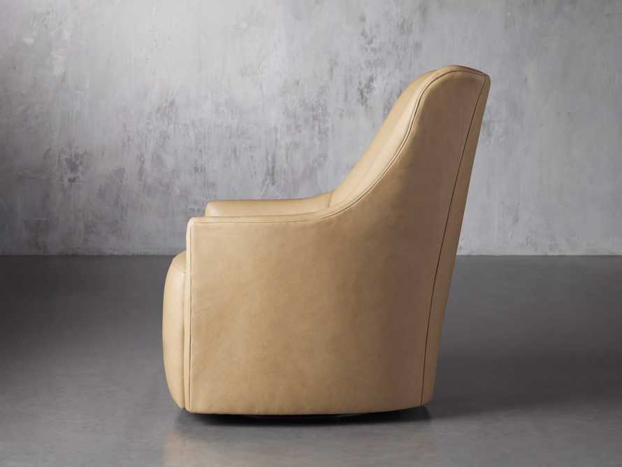 "Cole Leather 31"" Swivel Chair, slide 4 of 9"