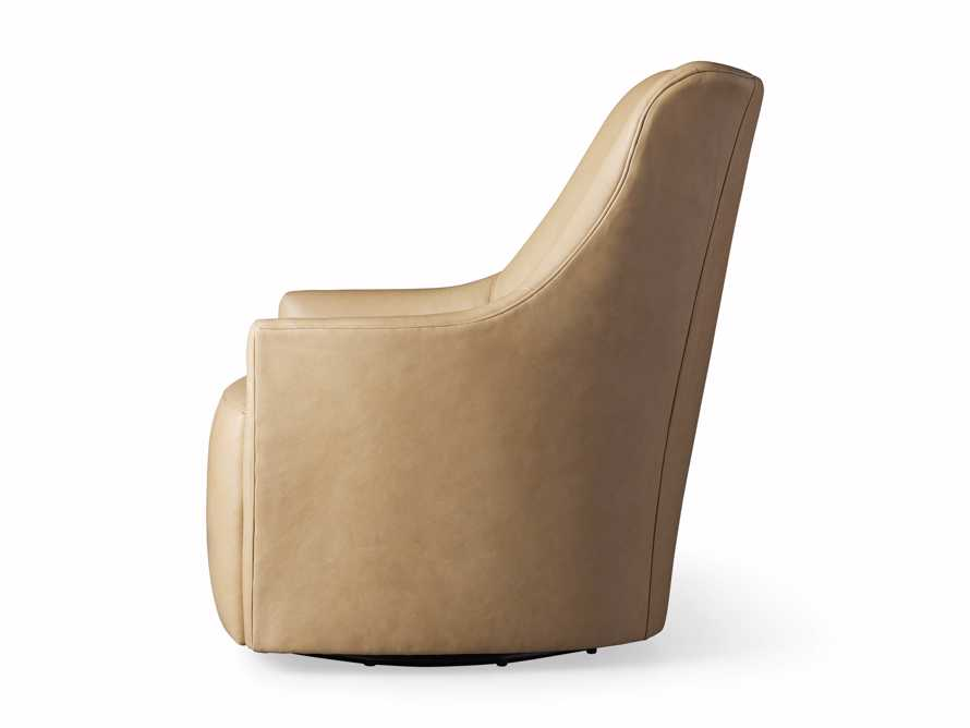 "Cole Leather 31"" Swivel Chair, slide 9 of 9"