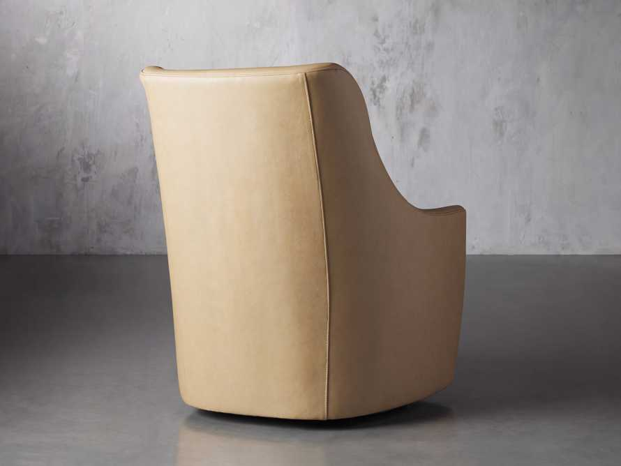 "Cole Leather 31"" Swivel Chair, slide 5 of 9"