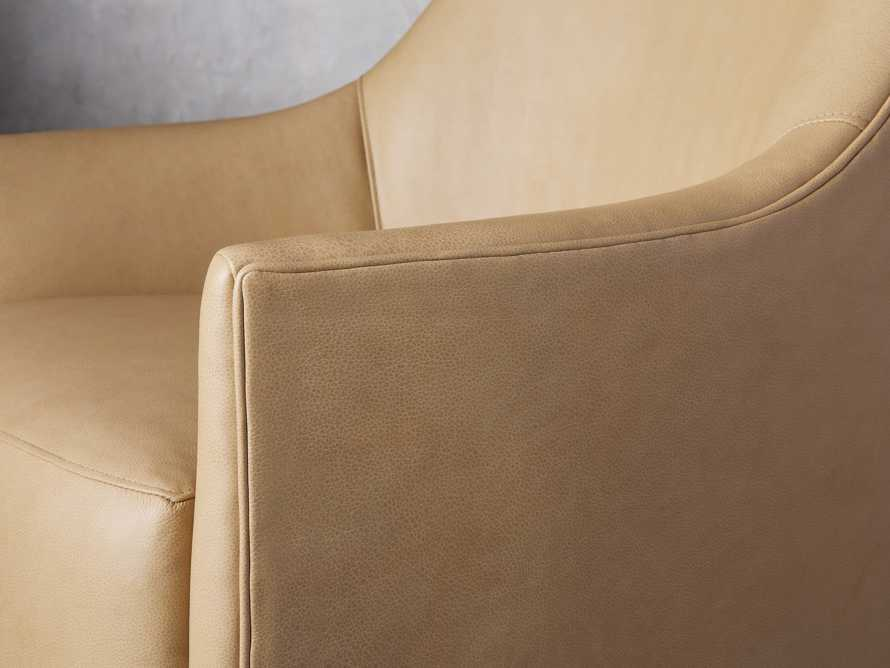 "Cole Leather 31"" Swivel Chair, slide 6 of 9"