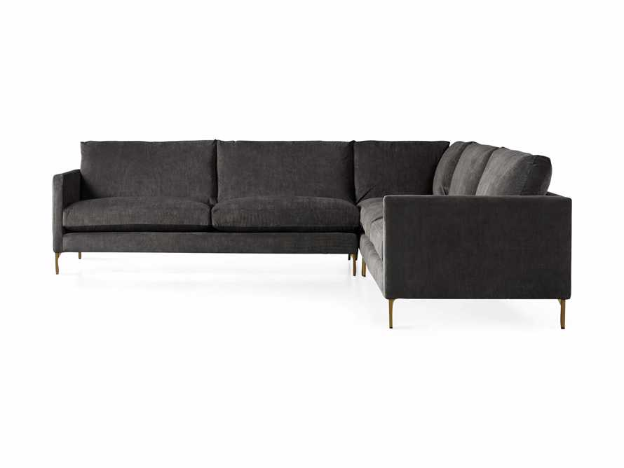"Clarkson Upholstered 120"" Three Piece Sectional, slide 7 of 8"