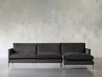 """Clarkson Upholstered 124"""" Two Piece Right Arm Sectional"""