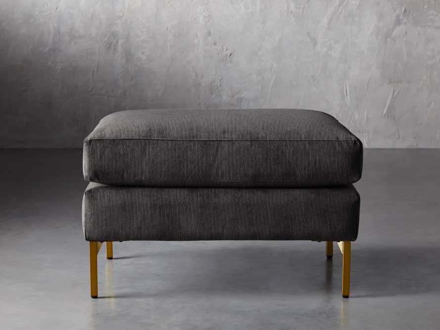 "Clarkson Brass Upholstered 28"" Ottoman, slide 2 of 4"