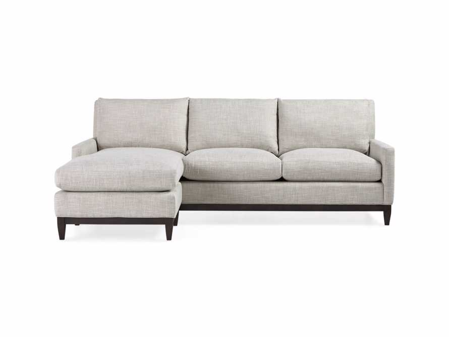 "Dante Upholstered 90"" Sofa With Reversible Chaise, slide 3 of 9"