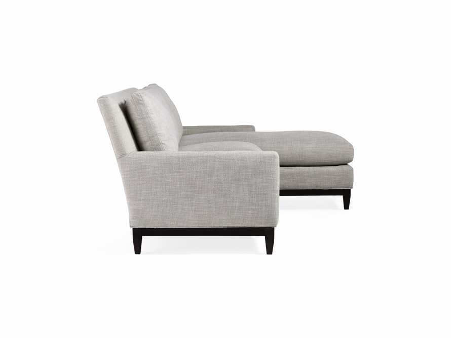 "Dante Upholstered 90"" Sofa With Reversible Chaise, slide 5 of 9"