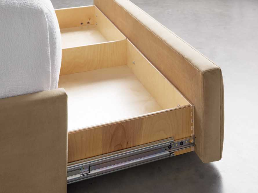 "Devereaux Upholstered 62"" Full Storage Bed in View Ale, slide 7 of 9"