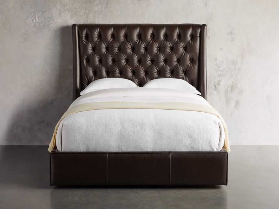 "Devereaux 63"" Leather Tufted Storage Queen Bed, slide 4 of 9"