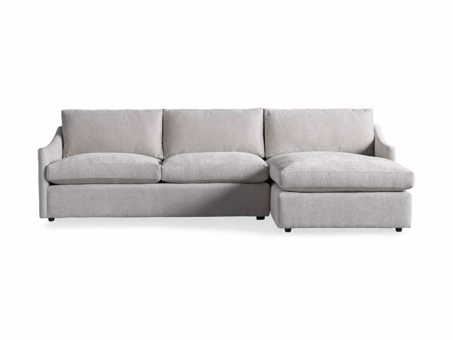 """Branson Upholstered 111"""" Right Arm Two Piece Sectional with Chaise, slide 6 of 6"""