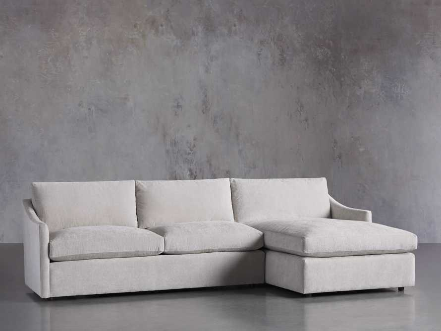 """Branson Upholstered 111"""" Right Arm Two Piece Sectional with Chaise, slide 2 of 6"""