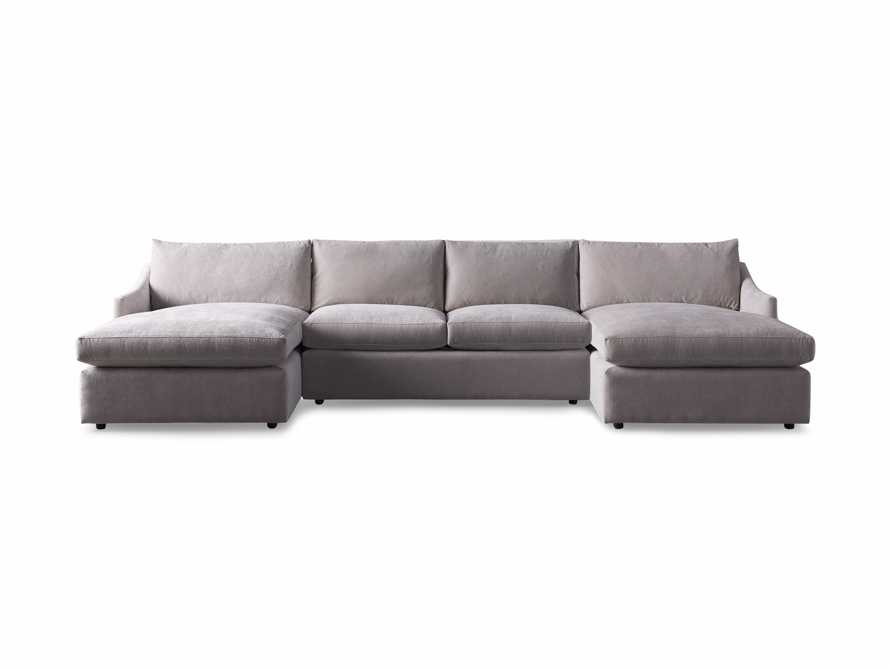 "Branson Upholstered 138"" Double Chaise Sectional, slide 7 of 7"