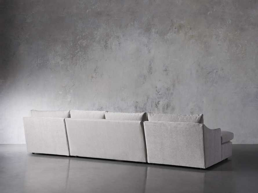 "Branson Upholstered 138"" Double Chaise Sectional, slide 4 of 7"