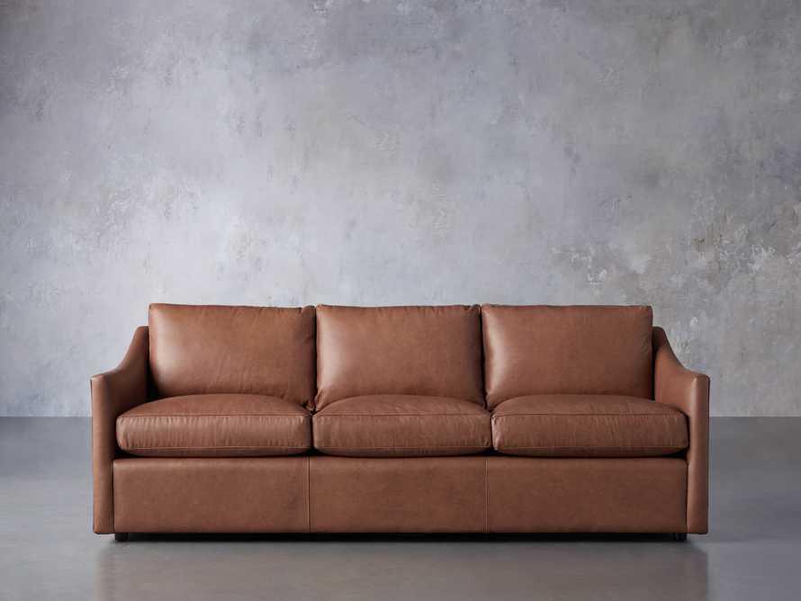 "Branson 84"" Leather Sofa, slide 2 of 8"