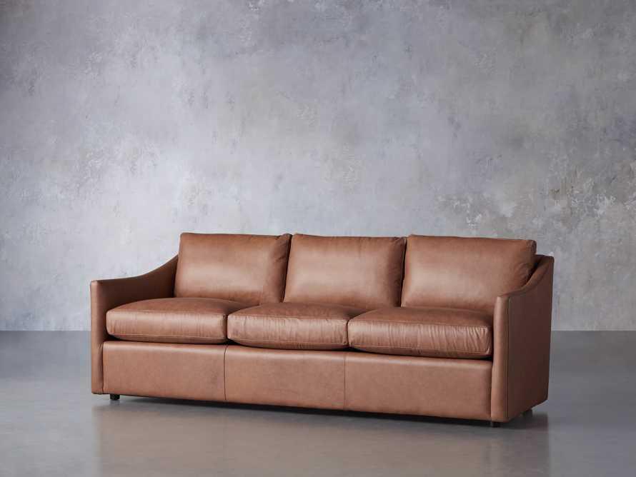 "Branson 84"" Leather Sofa, slide 3 of 8"